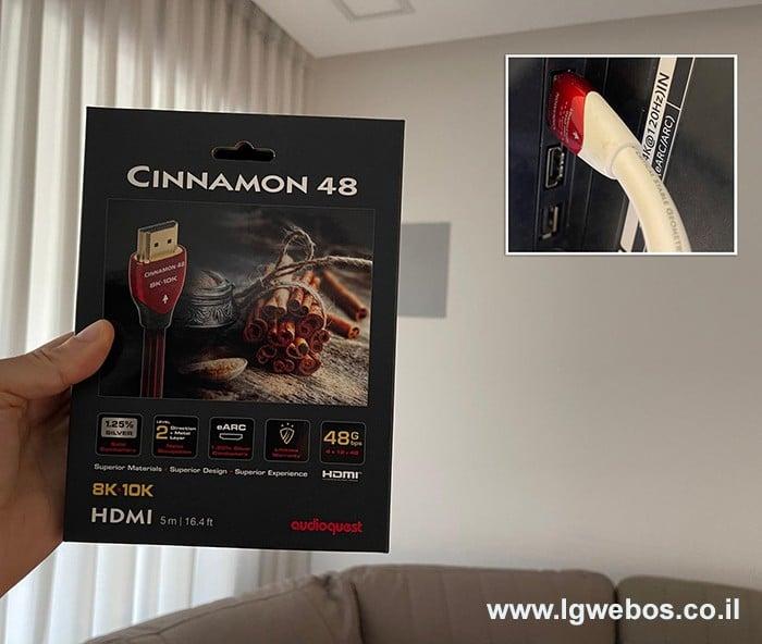 כבל HDMI מומלץ לטלוויזיה 4K HDR 120Hz